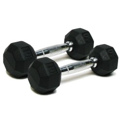 Deluxe Rubber Dumbbells - 10 lb. Pairs