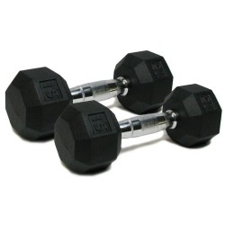 Deluxe Rubber Dumbbells - 15 lb. Pairs