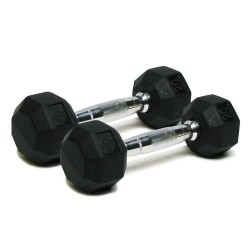 Deluxe Rubber Dumbbells - 20 lb. Pairs