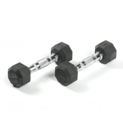 Deluxe Rubber Dumbbells - 3 lb. Pairs