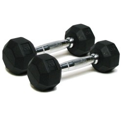 Deluxe Rubber Dumbbells - 8 lb. Pairs